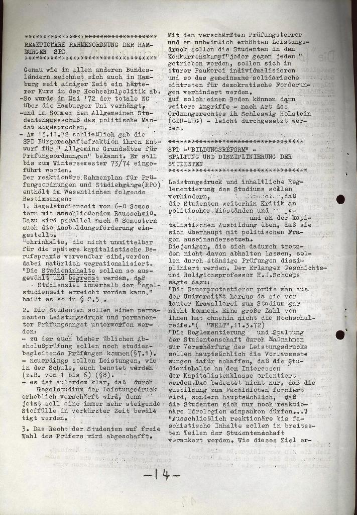 Schüler_Zeitung des KSB Lübeck, Nr. 5 (1973), Seite 14