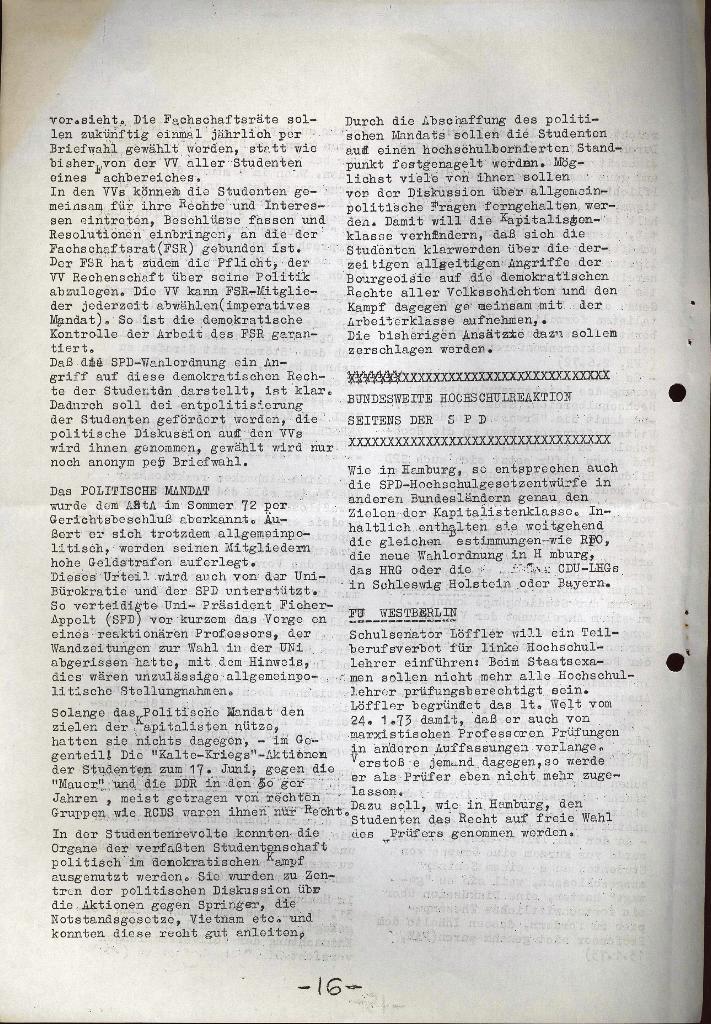 Schüler_Zeitung des KSB Lübeck, Nr. 5 (1973), Seite 16