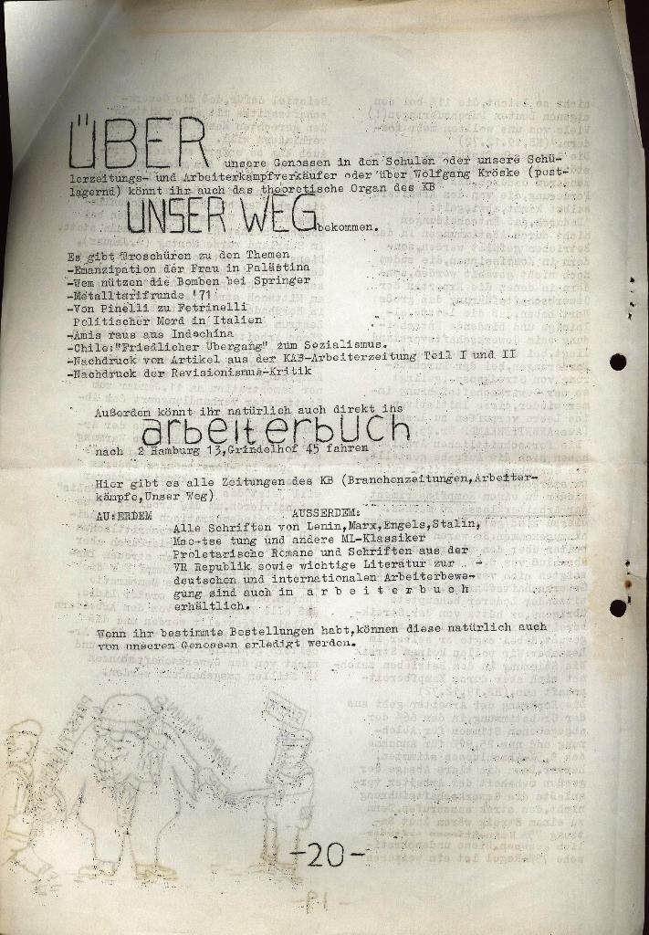 Schüler_Zeitung des KSB Lübeck, Nr. 5 (1973), Seite 20