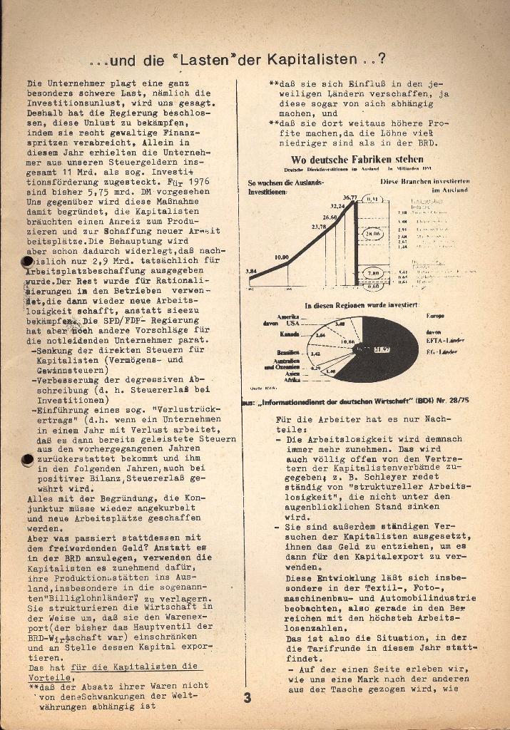 Kommunistische Krankenhauszeitung _ Betriebszeitung des KB, Jg. 2, Nr. 3, Lübeck, Dez. 1975, Seite 3