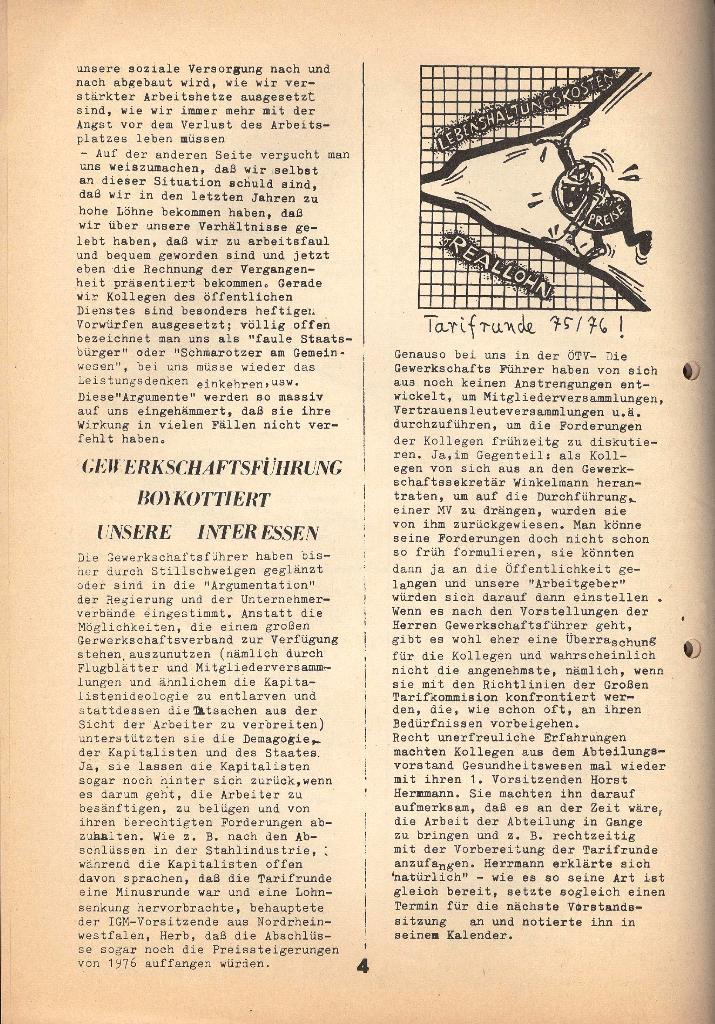 Kommunistische Krankenhauszeitung _ Betriebszeitung des KB, Jg. 2, Nr. 3, Lübeck, Dez. 1975, Seite 4
