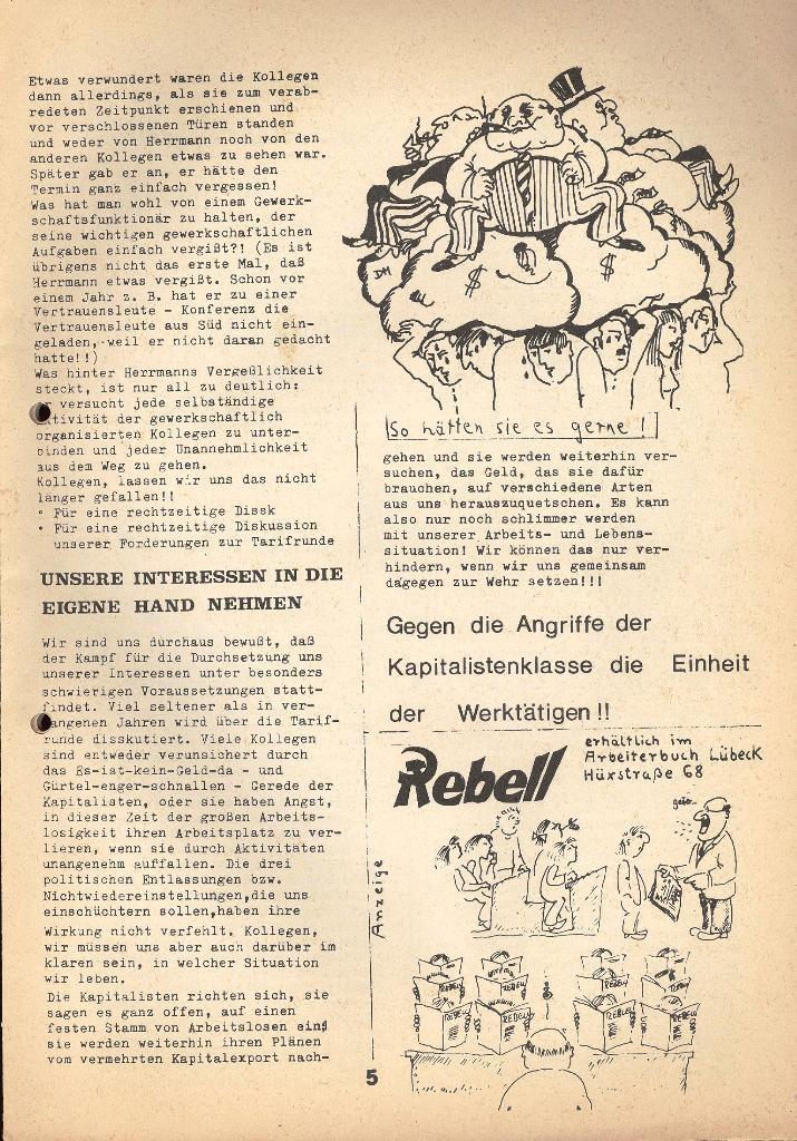 Kommunistische Krankenhauszeitung _ Betriebszeitung des KB, Jg. 2, Nr. 3, Lübeck, Dez. 1975, Seite 5