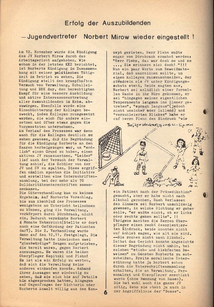 Kommunistische Krankenhauszeitung _ Betriebszeitung des KB, Jg. 2, Nr. 3, Lübeck, Dez. 1975, Seite 6