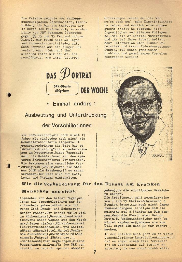 Kommunistische Krankenhauszeitung _ Betriebszeitung des KB, Jg. 2, Nr. 3, Lübeck, Dez. 1975, Seite 7