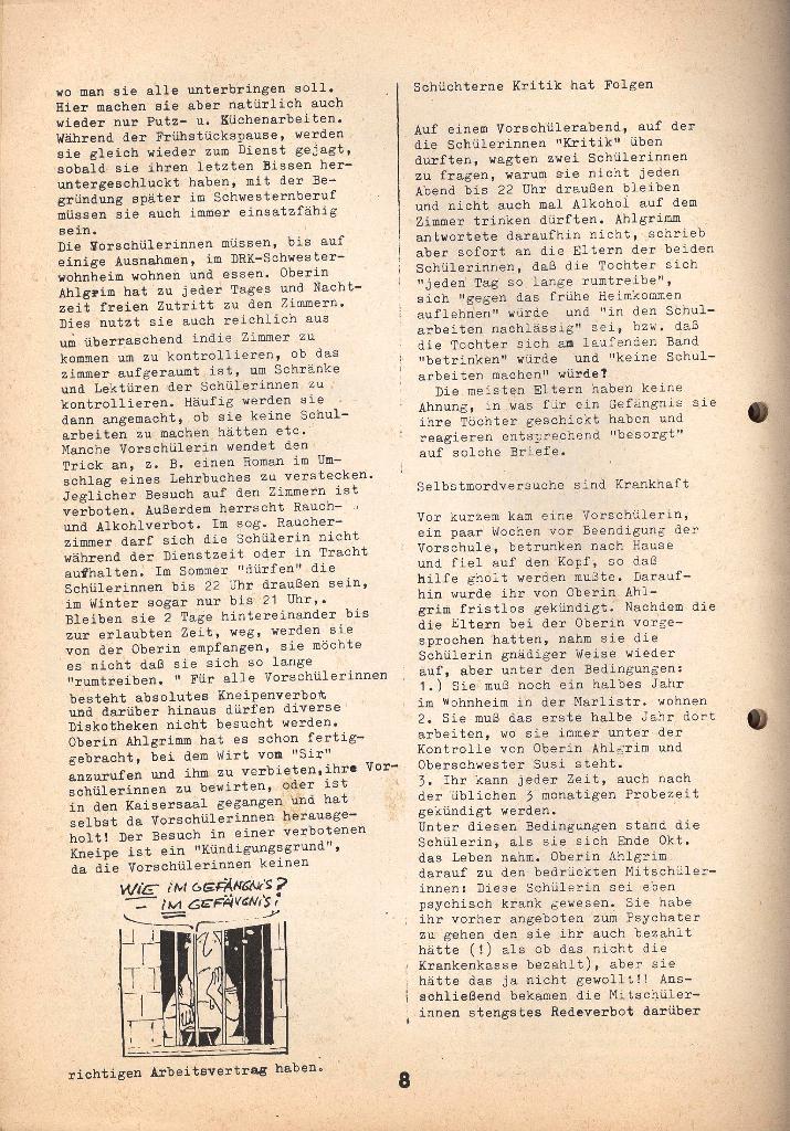 Kommunistische Krankenhauszeitung _ Betriebszeitung des KB, Jg. 2, Nr. 3, Lübeck, Dez. 1975, Seite 8