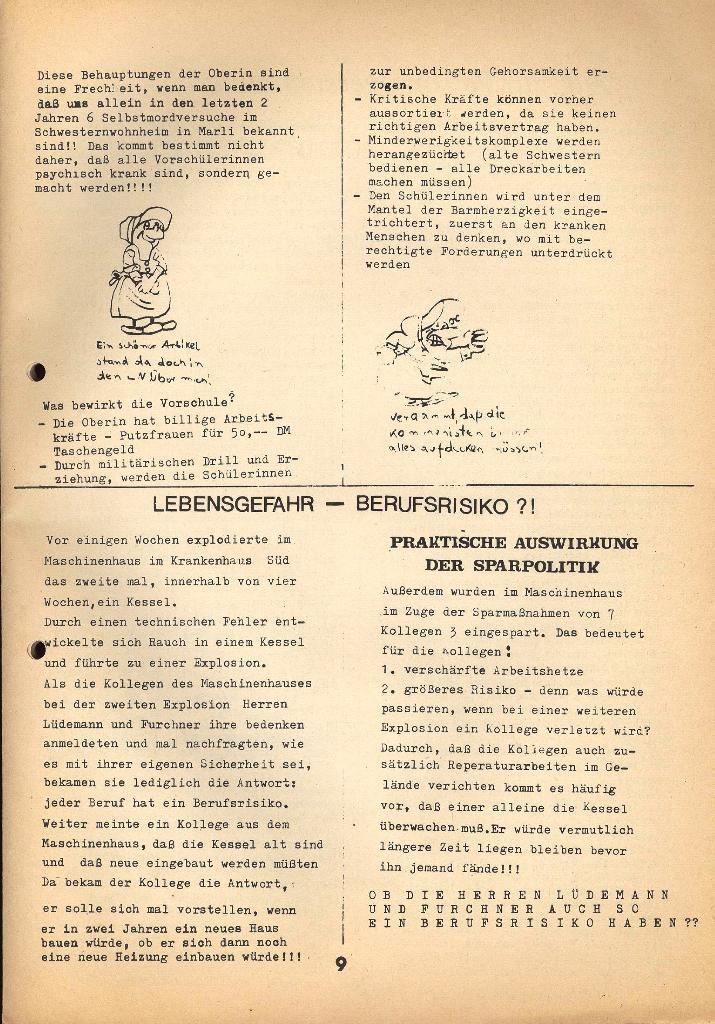 Kommunistische Krankenhauszeitung _ Betriebszeitung des KB, Jg. 2, Nr. 3, Lübeck, Dez. 1975, Seite 9