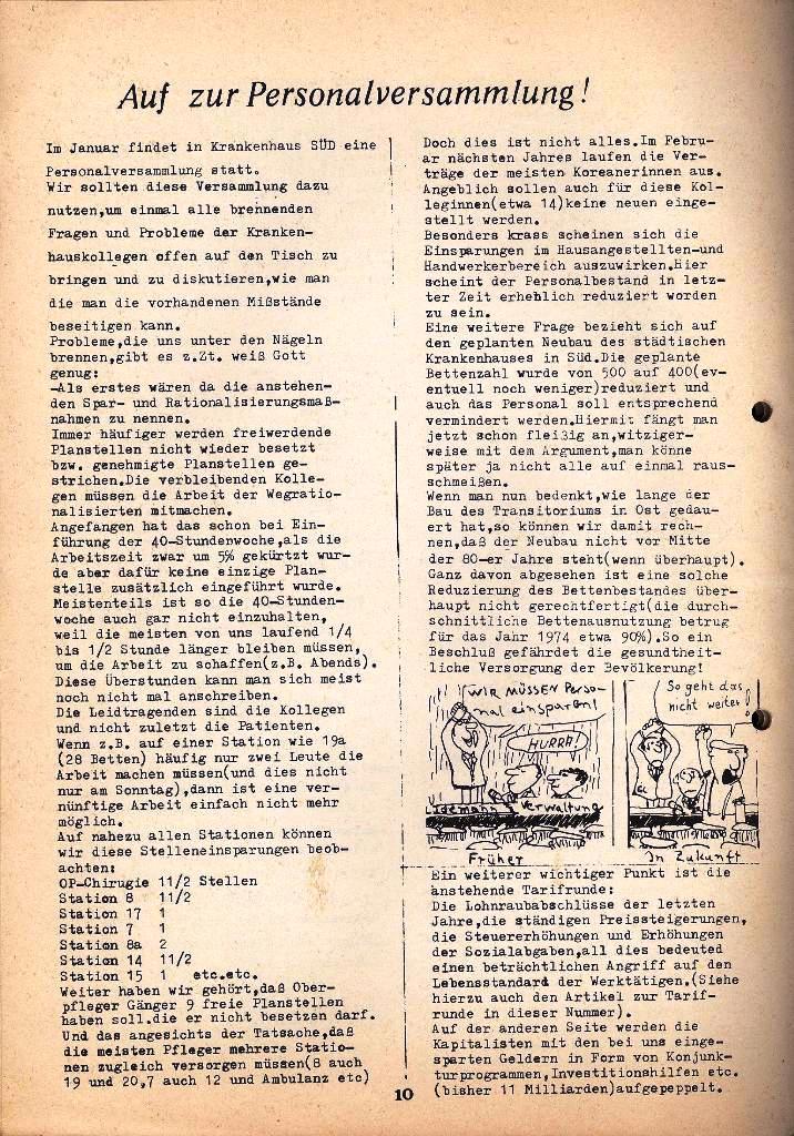 Kommunistische Krankenhauszeitung _ Betriebszeitung des KB, Jg. 2, Nr. 3, Lübeck, Dez. 1975, Seite 10