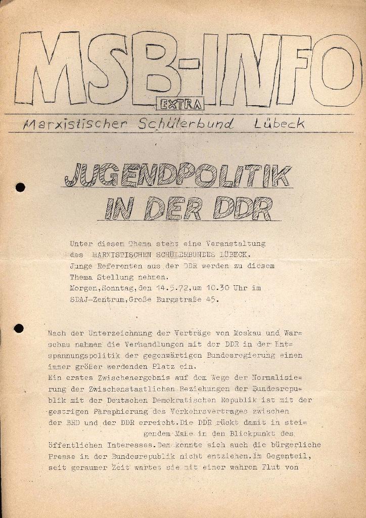 Marxistischer Schülerbund: Info, Extra, Mai 1972, Seite 1