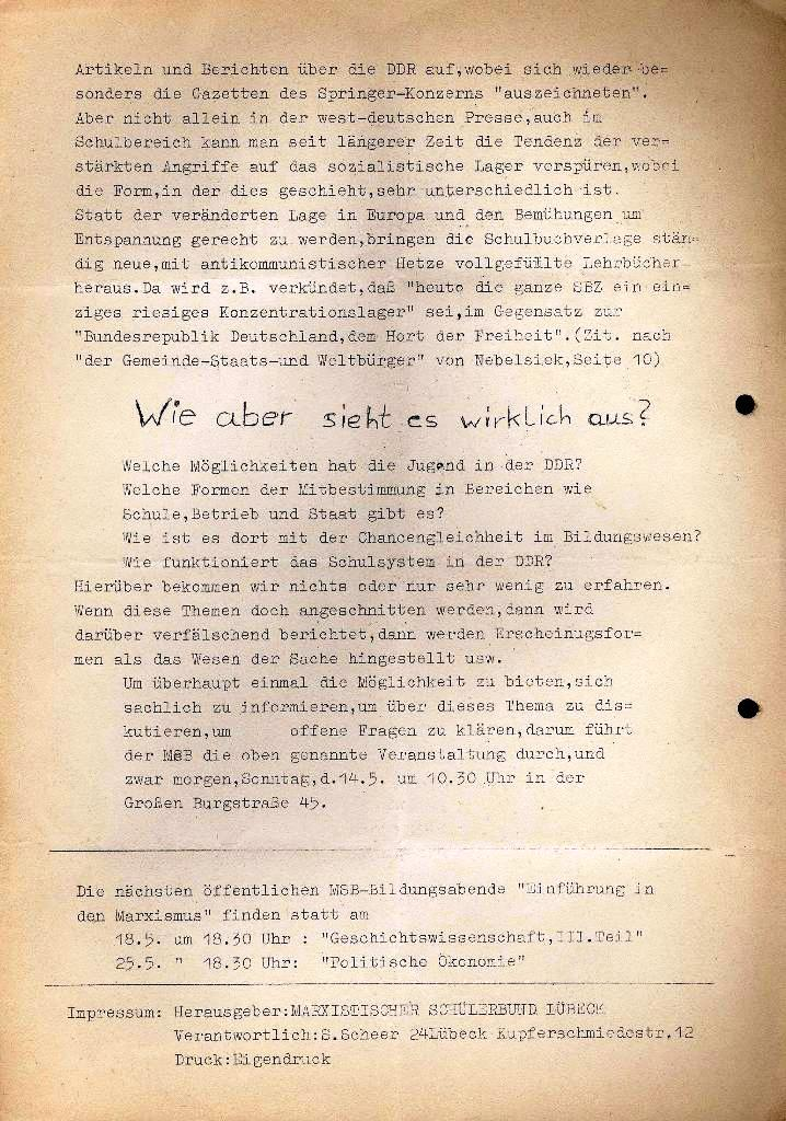 Marxistischer Schülerbund: Info, Extra, Mai 1972, Seite 2