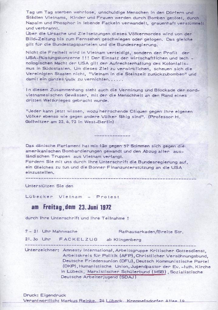 Flugblatt: Helft ihnen jetzt!, 1972, Seite 2
