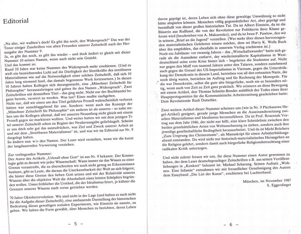 Streitbarer Materialismus, Nr. 10, S. 5 und 6 [Montage]