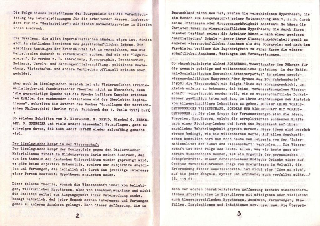 Der Widerspruch, Nr. 1, S. 2f.