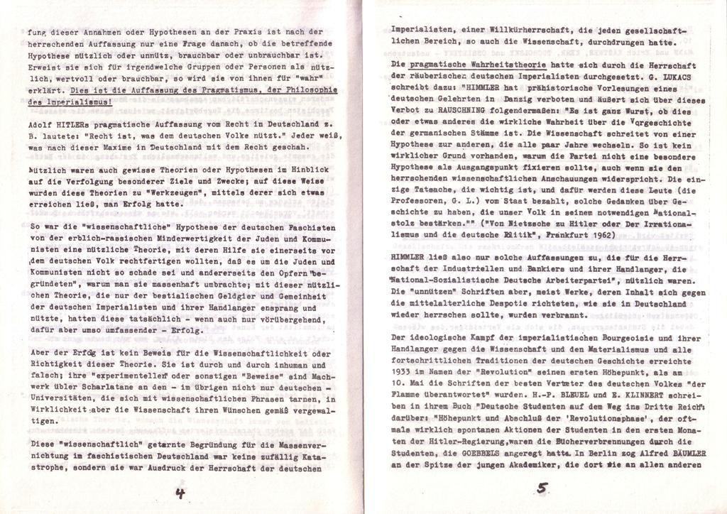 Der Widerspruch, Nr. 1, S. 4f.