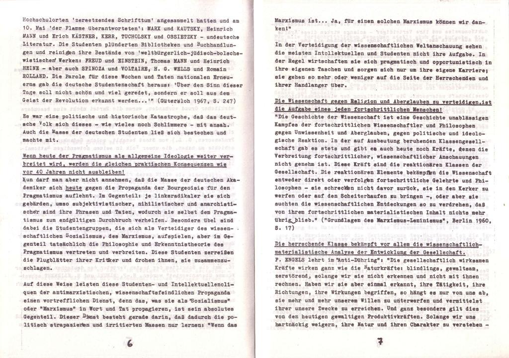 Der Widerspruch, Nr. 1, S. 6f.