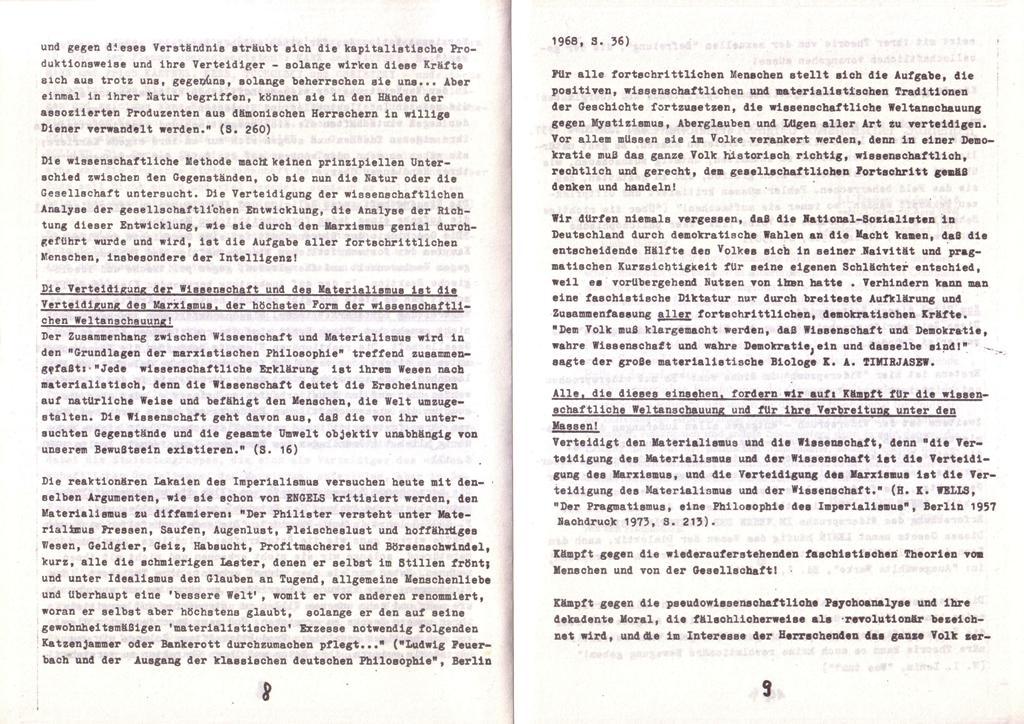 Der Widerspruch, Nr. 1, S. 8f.