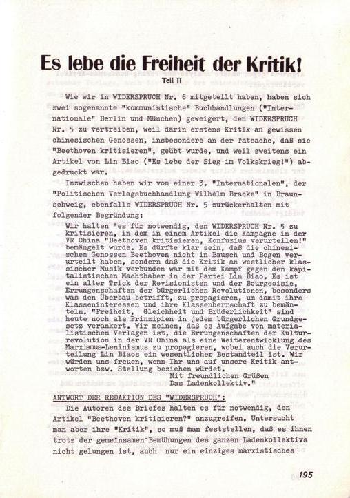 Der Widerspruch, Nr. 7, S. 195