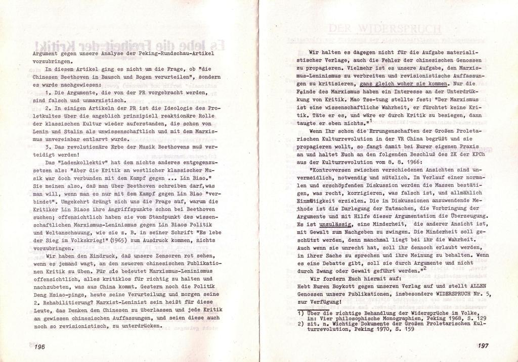 Der Widerspruch, Nr. 7, S. 196f.