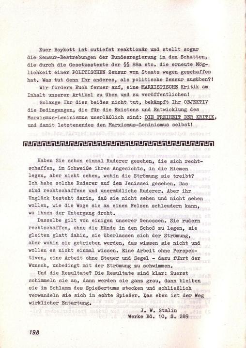 Der Widerspruch, Nr. 7, S. 198f.