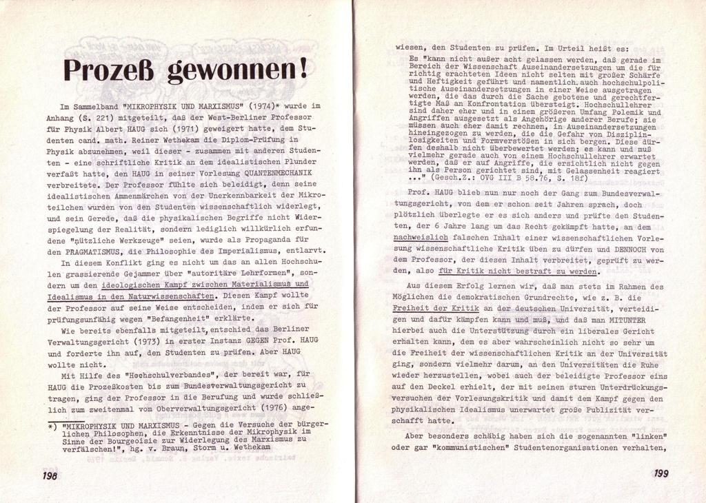 Der Widerspruch, Nr. 8, S. 198f.