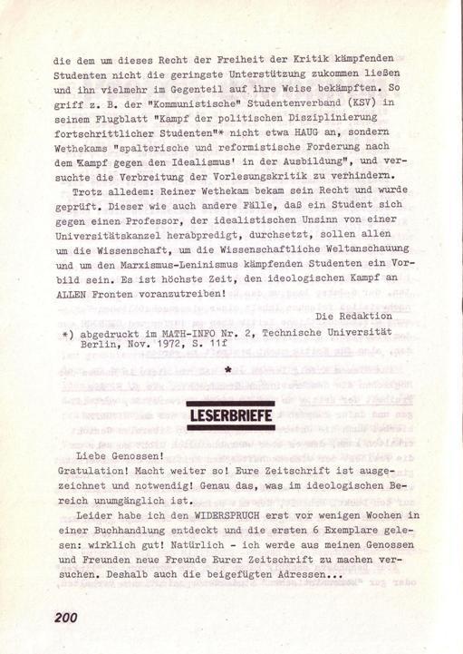 Der Widerspruch, Nr. 8, S. 200
