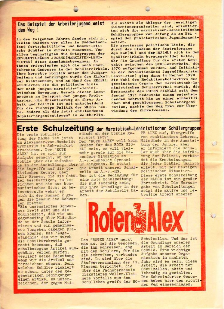 Rotes Signal Nr. 6/1972, S. 18f.