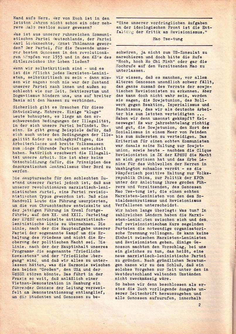 Roter Morgen, 1. Jg., Nr. 1, Juli 1967, Seite 2