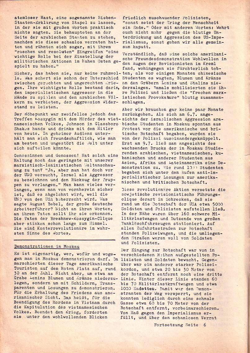Roter Morgen, 1. Jg., Nr. 1, Juli 1967, Seite 4