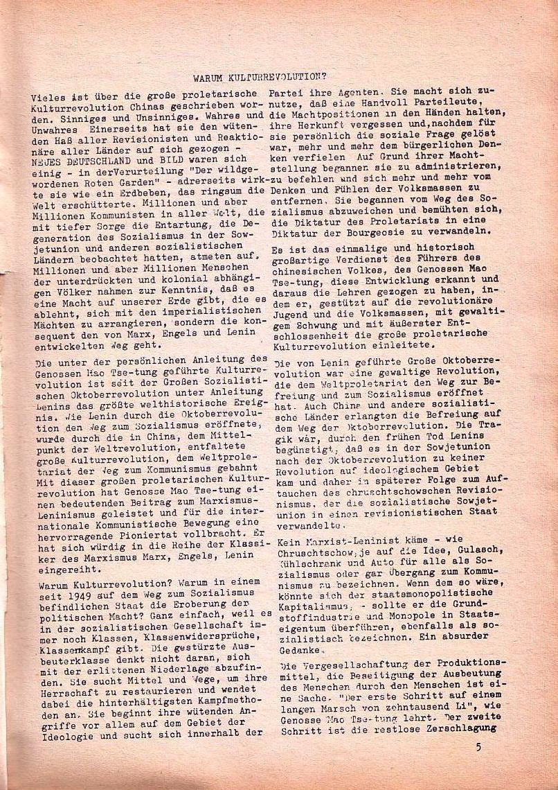 Roter Morgen, 1. Jg., Nr. 1, Juli 1967, Seite 5