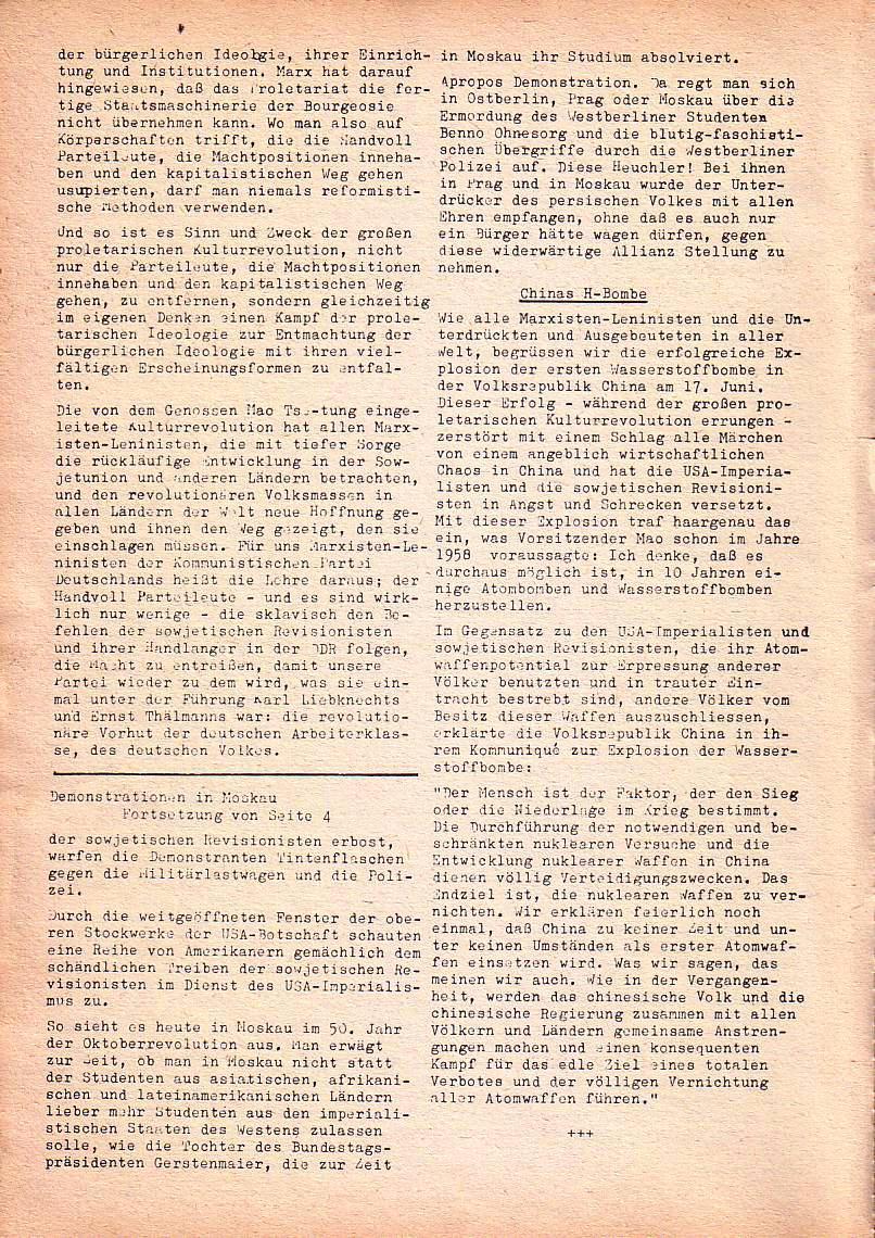 Roter Morgen, 1. Jg., Nr. 1, Juli 1967, Seite 6