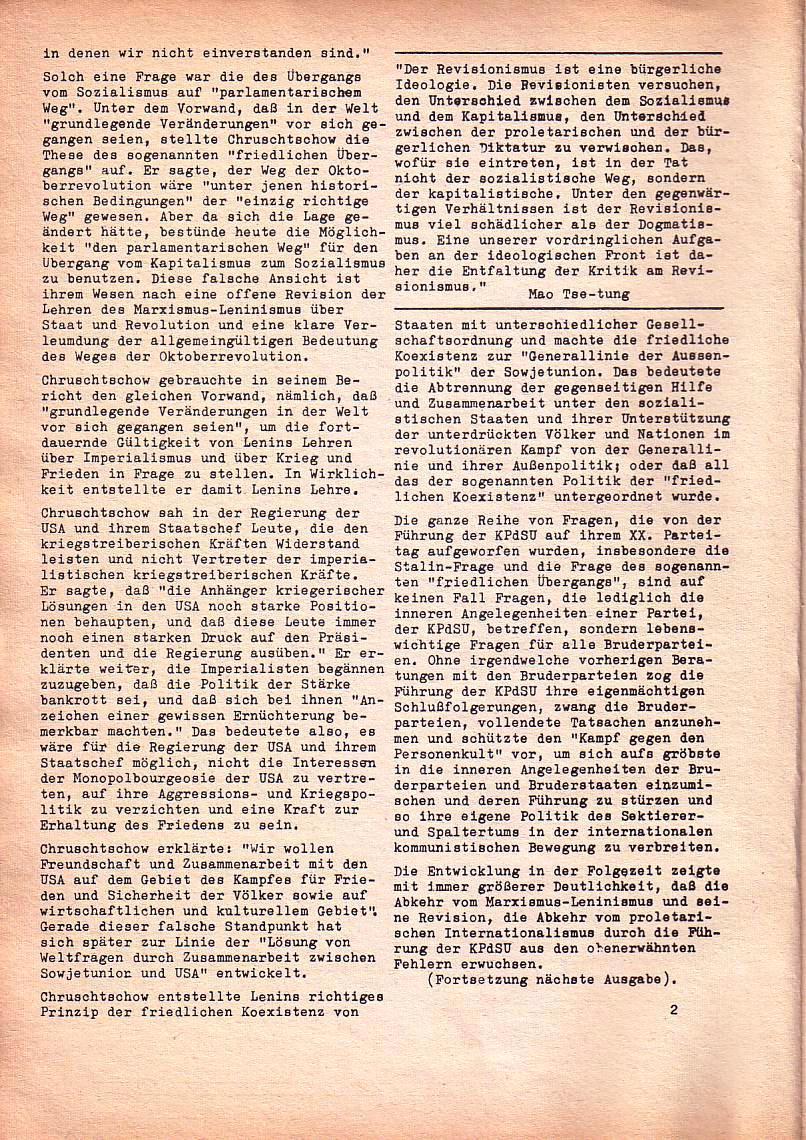Roter Morgen, 1. Jg., Nr. 3/4, Sept./Okt. 1967, Seite 2