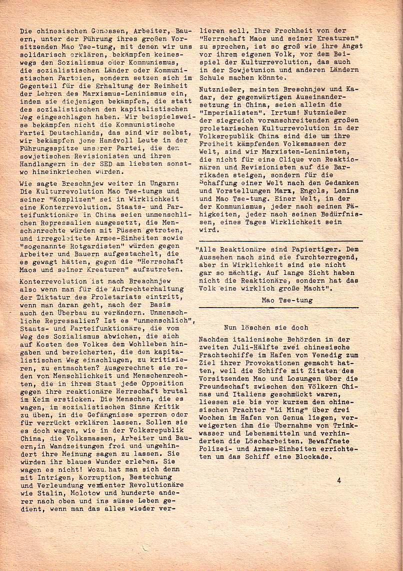 Roter Morgen, 1. Jg., Nr. 3/4, Sept./Okt. 1967, Seite 4