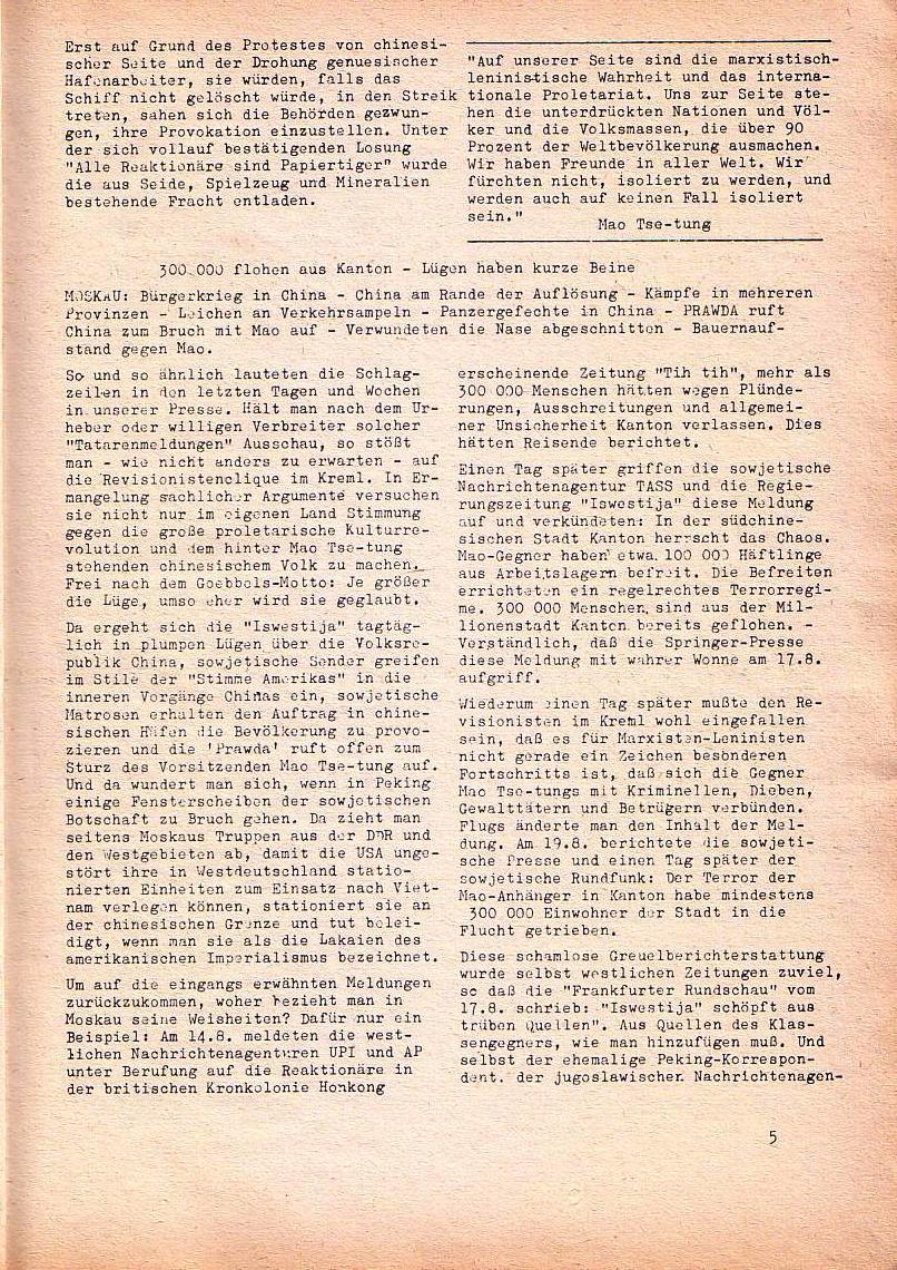 Roter Morgen, 1. Jg., Nr. 3/4, Sept./Okt. 1967, Seite 5