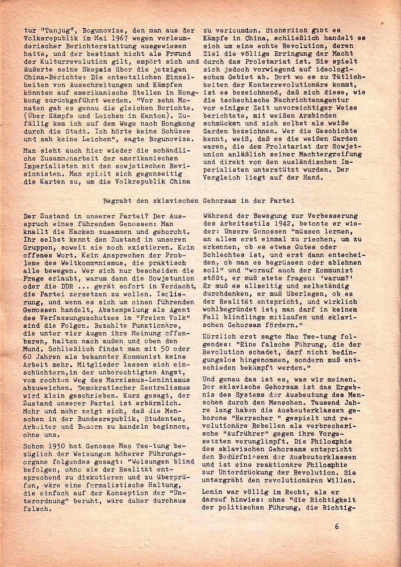 Roter Morgen, 1. Jg., Nr. 3/4, Sept./Okt. 1967, Seite 6