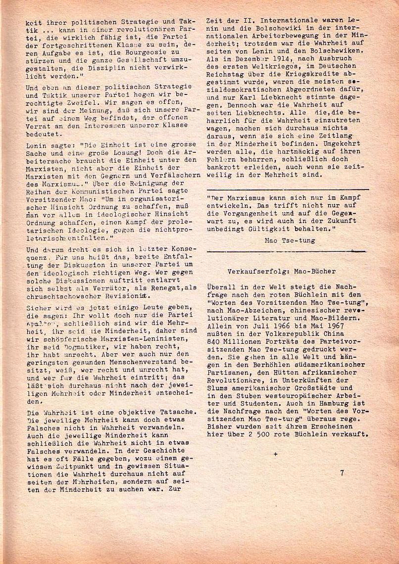 Roter Morgen, 1. Jg., Nr. 3/4, Sept./Okt. 1967, Seite 7
