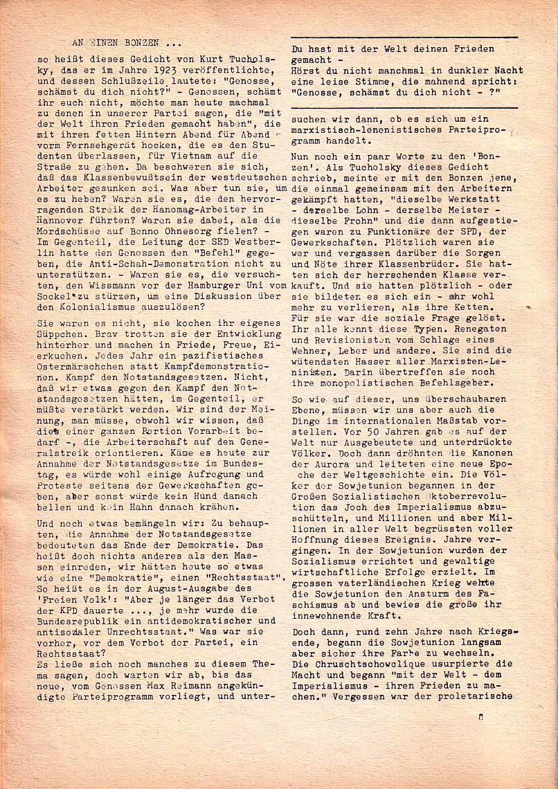 Roter Morgen, 1. Jg., Nr. 3/4, Sept./Okt. 1967, Seite 8