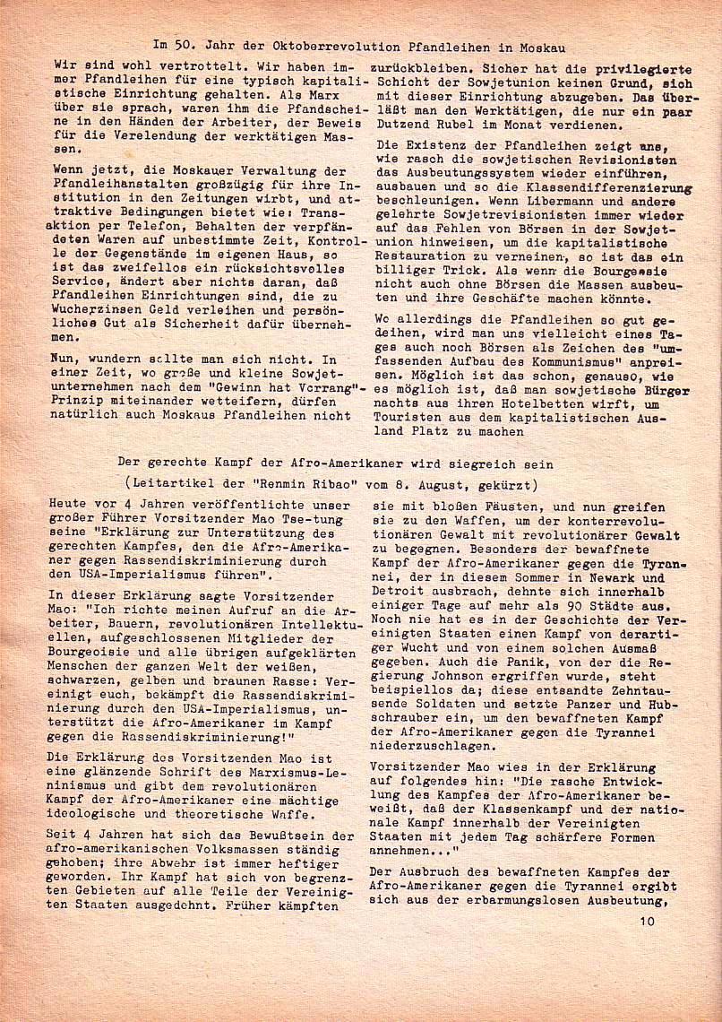 Roter Morgen, 1. Jg., Nr. 3/4, Sept./Okt. 1967, Seite 10