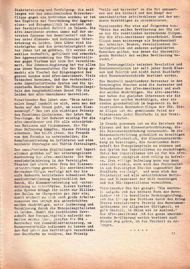Roter Morgen, 1. Jg., Nr. 3/4, Sept./Okt. 1967, Seite 11