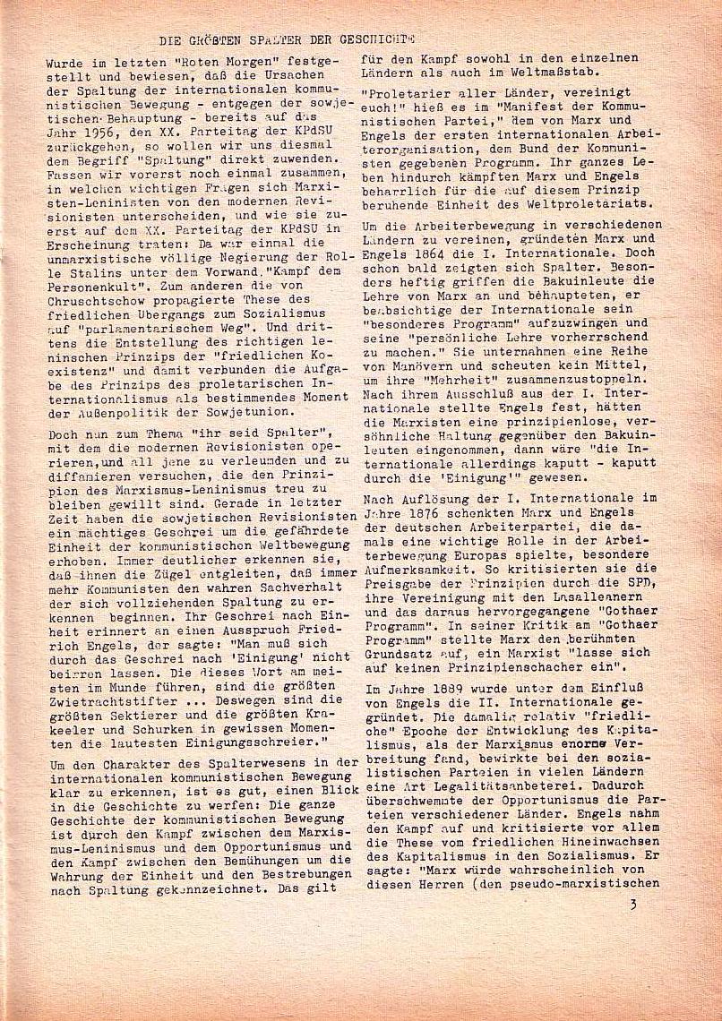 Roter Morgen, 1. Jg., Nov. 1967, Seite 3