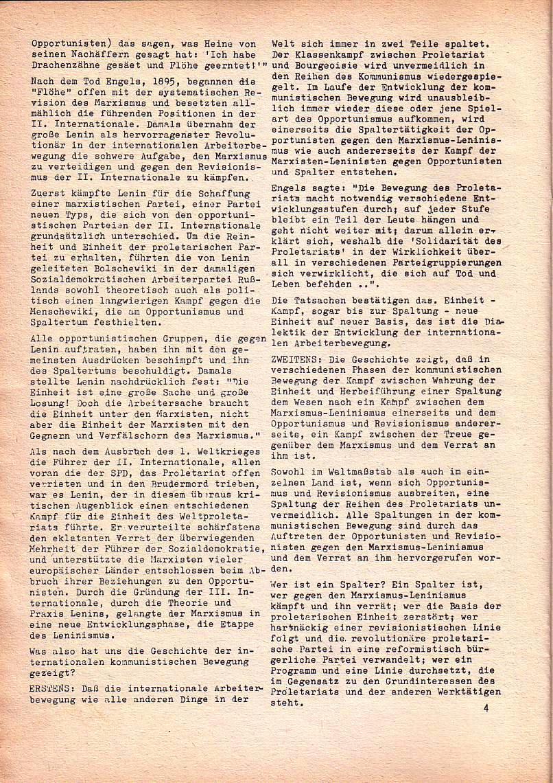 Roter Morgen, 1. Jg., Nov. 1967, Seite 4