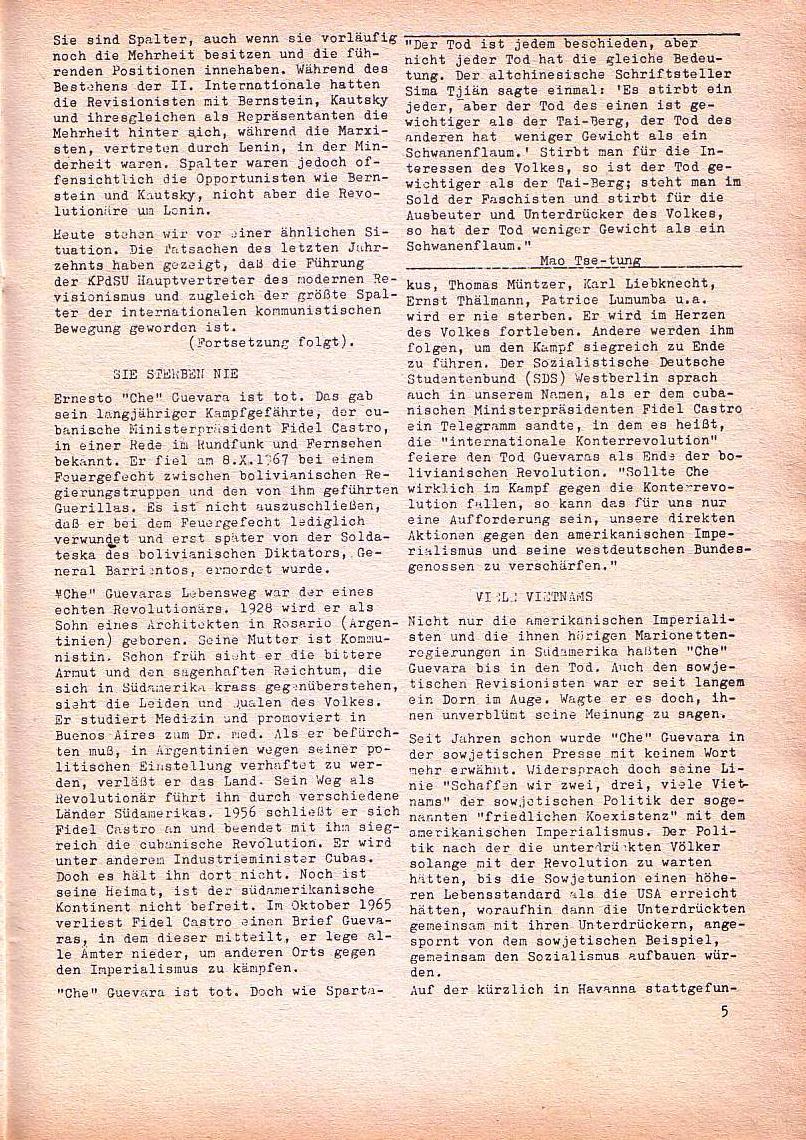 Roter Morgen, 1. Jg., Nov. 1967, Seite 5