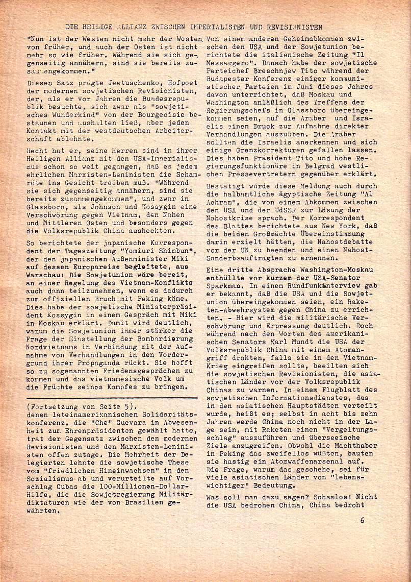 Roter Morgen, 1. Jg., Nov. 1967, Seite 6