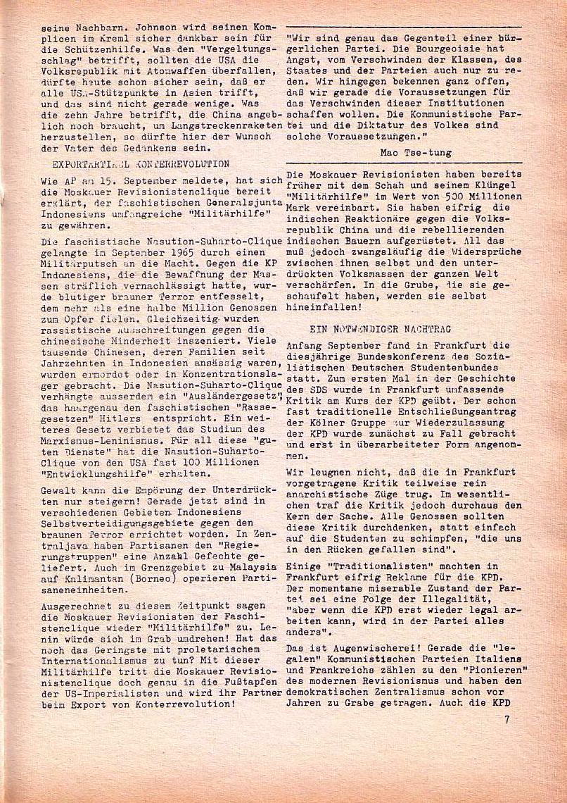 Roter Morgen, 1. Jg., Nov. 1967, Seite 7