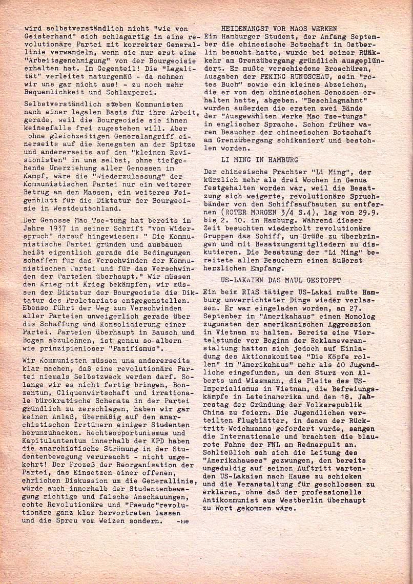 Roter Morgen, 1. Jg., Nov. 1967, Seite 8