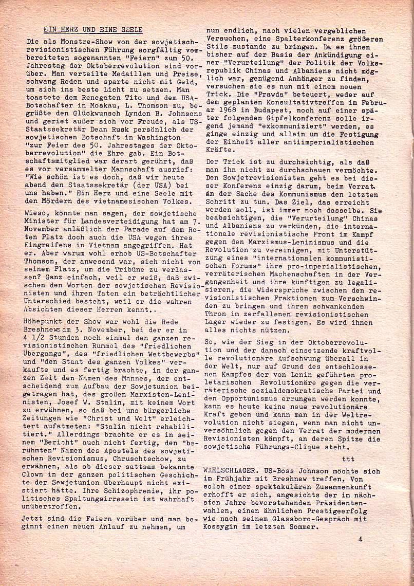 Roter Morgen, 1. Jg., Dez. 1967, Seite 4