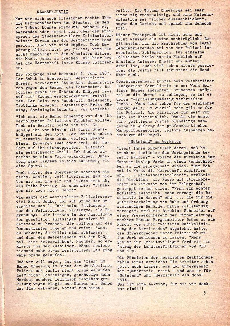 Roter Morgen, 1. Jg., Dez. 1967, Seite 5