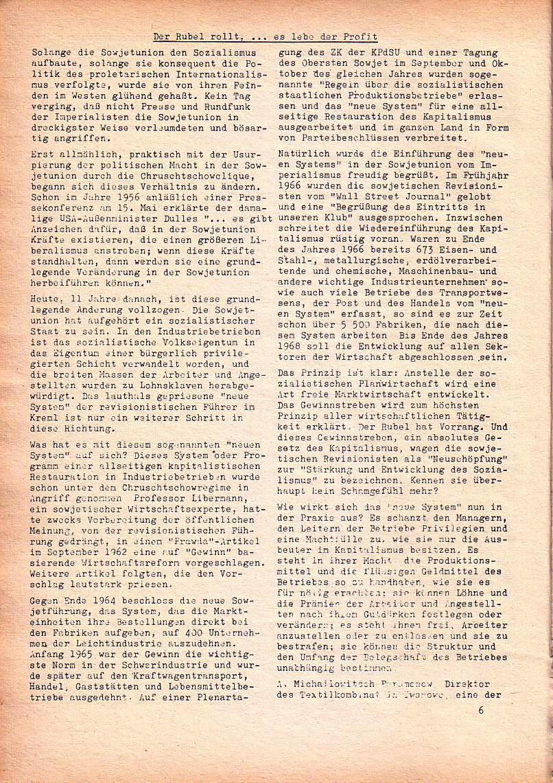 Roter Morgen, 1. Jg., Dez. 1967, Seite 6