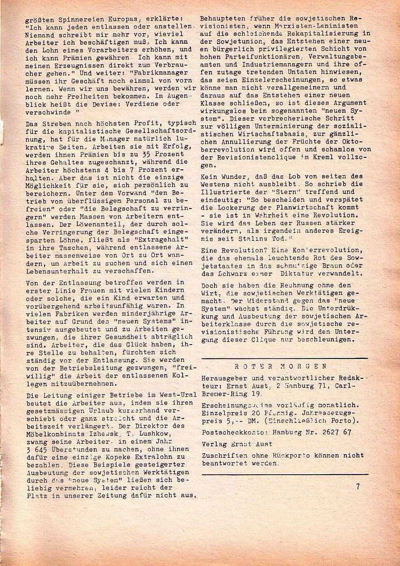 Roter Morgen, 1. Jg., Dez. 1967, Seite 7