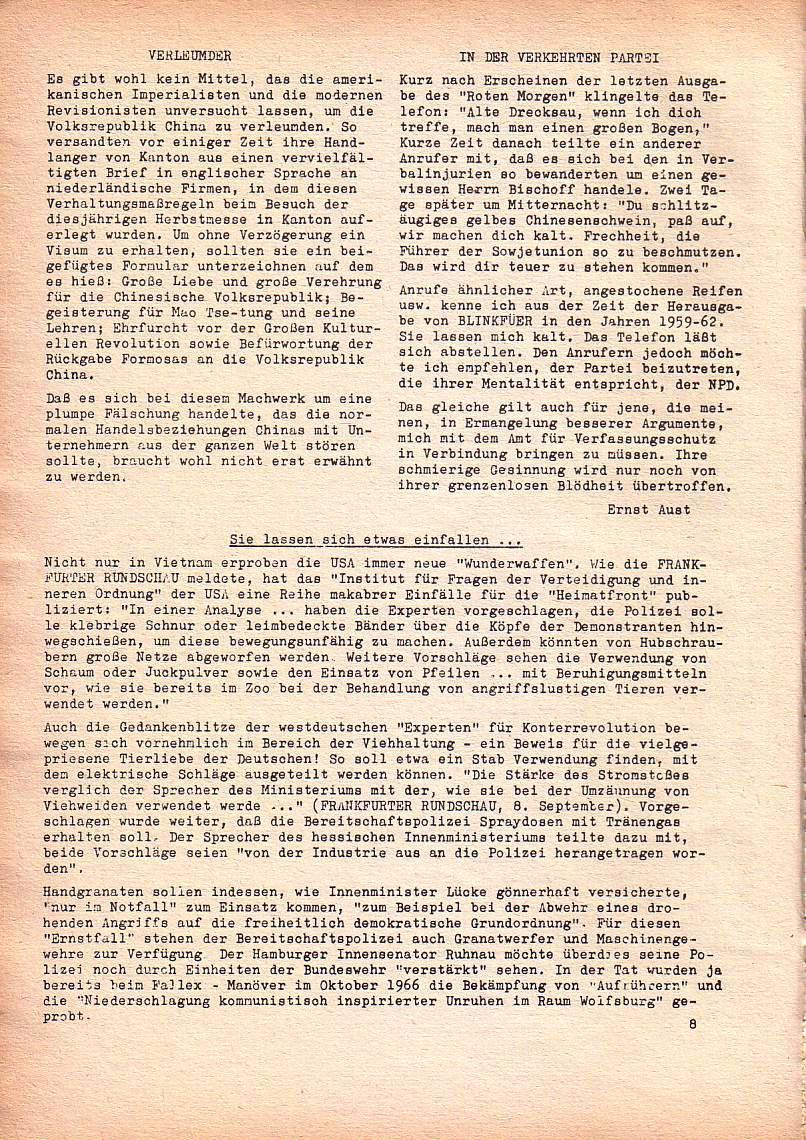 Roter Morgen, 1. Jg., Dez. 1967, Seite 8