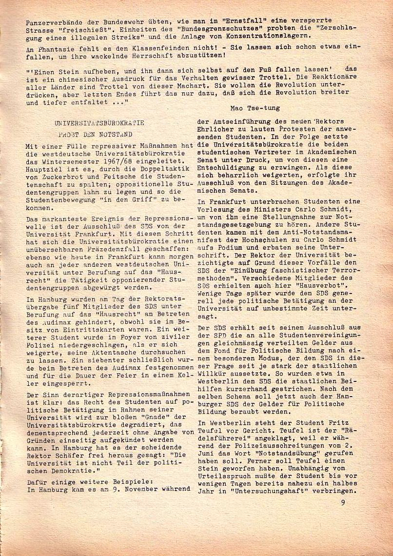 Roter Morgen, 1. Jg., Dez. 1967, Seite 9