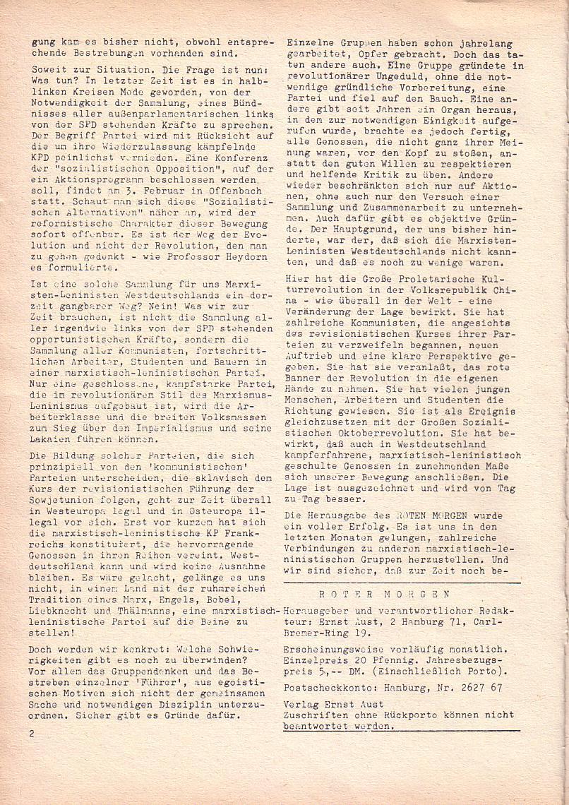 Roter Morgen, 2. Jg., Jan. 1968, Seite 2